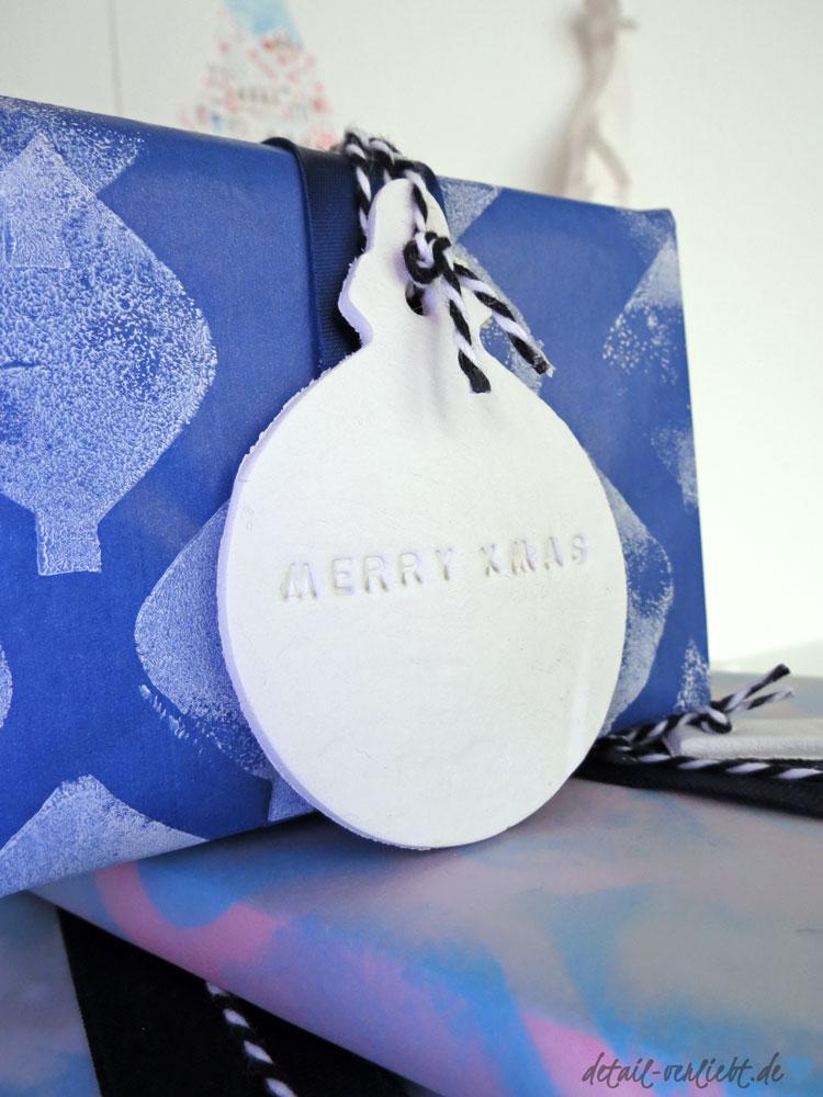 Geschenkanhänger Weihnachtskugel