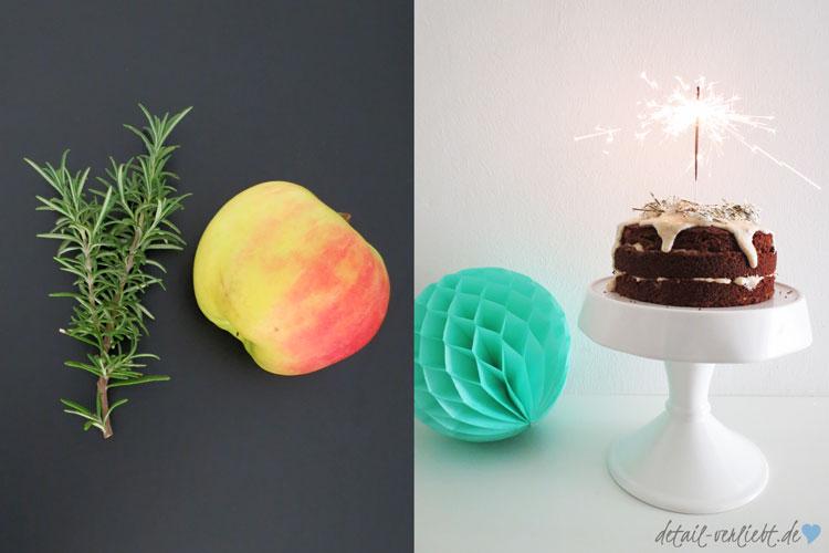 Lecker Apfel-Pastinaken-Torte mit Rosmarinsirup