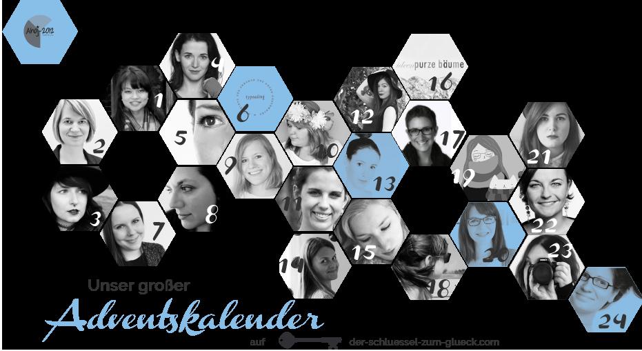 Blogger-Adventskalender – 24 Türchen, 24 tolle Ideen: Der Blogger-Adventskalender von Der-schlüssel-zum-glueck.de