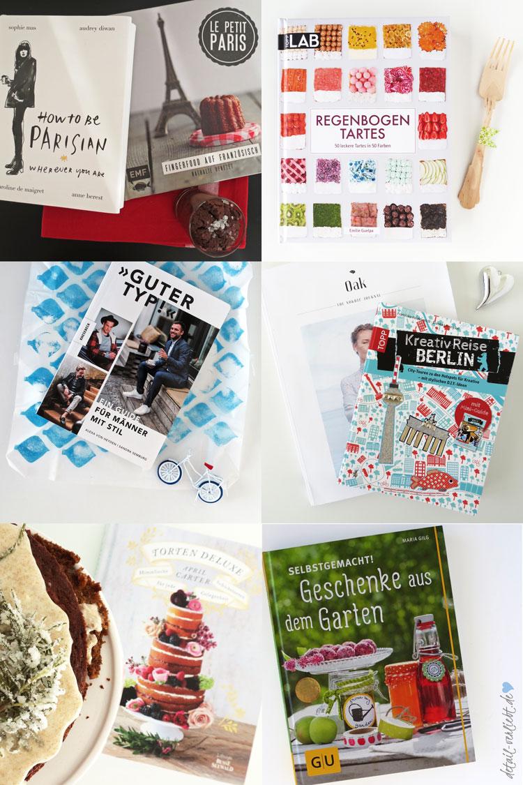 """Buchrezensionen 2015: Stilbücher """"How to be Parisian –wherever you are"""" und """"Guter Typ!"""", Backbücher """"Regenbogen Tartes"""", """"Torten Deluxe"""" und """"Le petit Paris"""", DIY-Bücher """"KreativReise Berlin"""" und """"Selbstgemacht! Geschenke aus dem Garten""""! Blog-Jahresrückblick 2015: Backen, DIY, Geschenke aus der Küche, Bücher, Sweet Table und Blumen"""