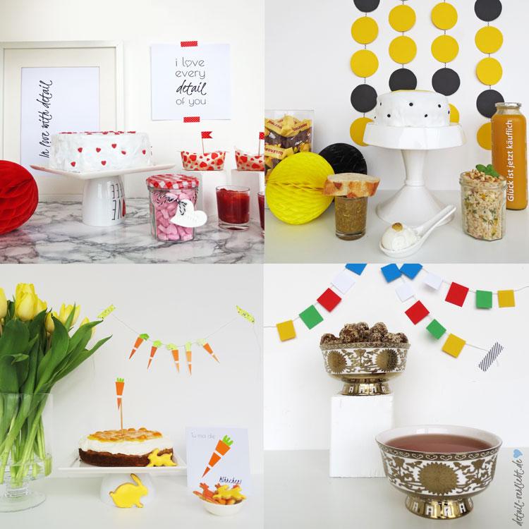 Sweet-Table-Ideen: Valentinstag, Ostern, honigsüßer Sweet Table und tibetanische Köstlichkeiten! Blog-Jahresrückblick 2015: Backen, DIY, Geschenke aus der Küche, Bücher, Sweet Table und Blumen