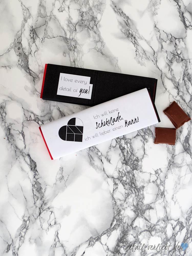 Individuelle und schöne Schokoladenverpackung zum Valentinstag selber ausdrucken