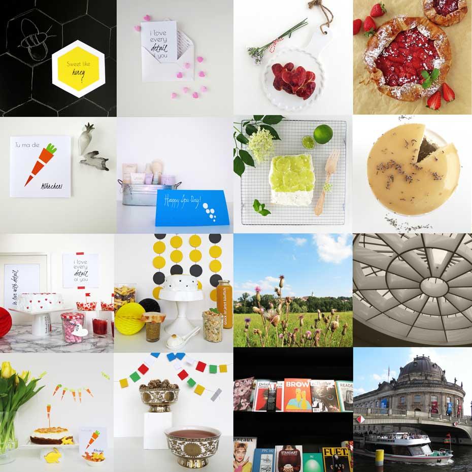 Blog-Jahresrückblick 2015: Backen, DIY, Geschenke aus der Küche, Bücher, Sweet Table und Blumen
