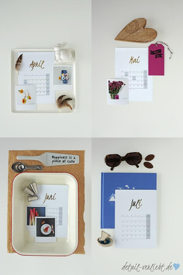 www.detail-verliebt.de: Der ultimative DIY-Kalender, an dem alles home-made ist. Dieser Kalender ist in dezentem Design gehalten, aber hochwertig im Look.