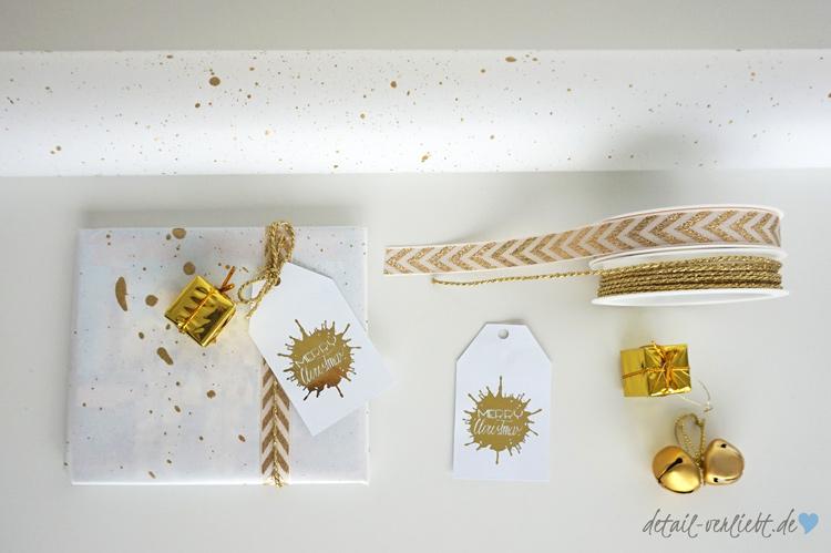 www.detail-verliebt.de: Die Zeit des Geschenkeverpackens mag ich sehr und auch Zeit und Liebe zu investieren um so meine Wertschätzung auszudrücken. In diesem Jahr ist bei mir alles in Weiß und Gold.