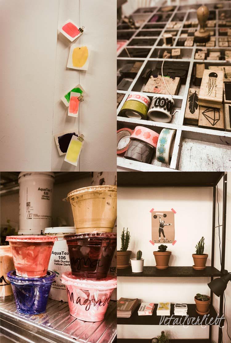 www.detail-verliebt.de: Im Siebdruckworkshop in der Silberfabrik in München-Haidhausen habe ich die tolle Technik des Handsiebdrucks kennen gelernt. Als Teilnehmer erzielt man erste Erfolge mit dem Siebdruck und nimmt tolle Ergebnisse mit nach Hause.