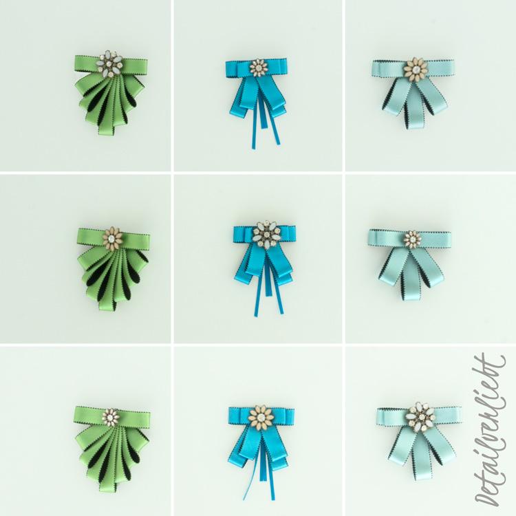 www.detail-verliebt.de: Mit ausgefallenen Broschen und schönen Schleifenbändern lassen sich wunderbare Schleifenbroschen gestalten. Mit meinen detaillierten Anleitungen ist die Umsetzung ganz leicht.