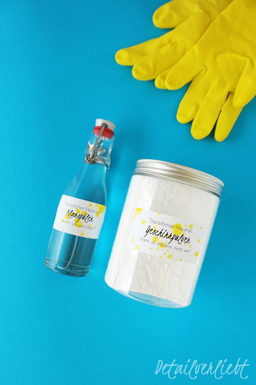 www.detail-verliebt.de: Preiswertes Geschirrspülpulver und Klarspüler selber machen ist ganz einfach. Die rein natürlichen Zutaten dafür findest Du in jedem Drogeriemarkt.