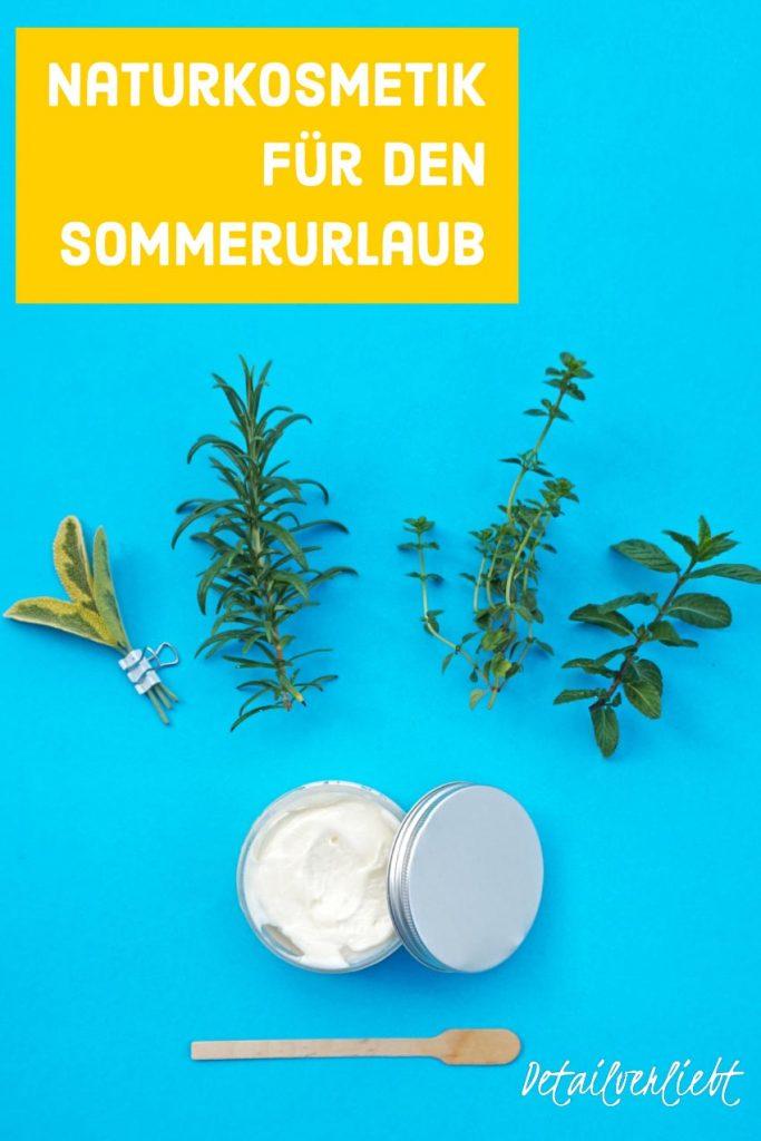 www.detail-verliebt.de: Naturkosmetik für den Sommerurlaub und Tipps für Kosmetik selber machen im Sommer: schnelle und einfache Rezepte wie Salzhaarspray für den Beachlook.